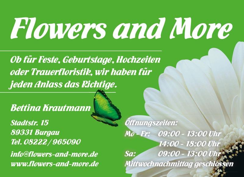 Flowers and More aus Burgau - Dekoration